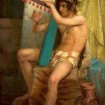 Wiesiołowski_David_playing_the_harp